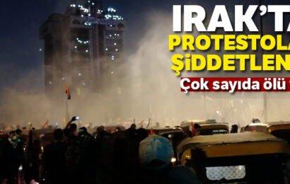 Irak'ta Protestolar Şiddetlendi! Çok Sayıda Ölü ve Yaralılar Var