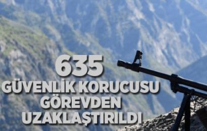 İçişleri Bakanlığı Açıkladı:635 Güvenlik Korucusu Görevden Uzaklaştırıldı…!
