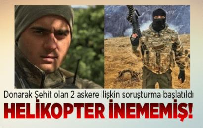 Tunceli Valiliğin'den Açıklama:Donarak Şehit Olan 2 Askere İlişkin Soruşturma Başlatıldı…!
