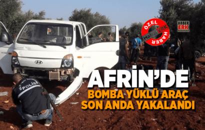 Afrin'de Bomba Yüklü Araç Son Anda Yakalandı…!