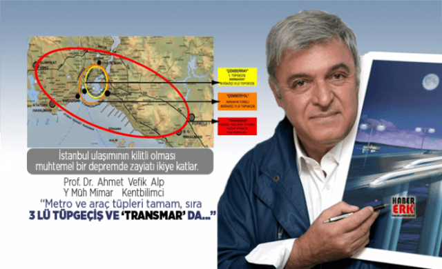 """Prof. Dr.  Ahmet  Vefik  Alp """"Metro ve araç tüpleri tamam, sıra  3 lü Tüpgeçiş ve 'TransMar' da…"""""""