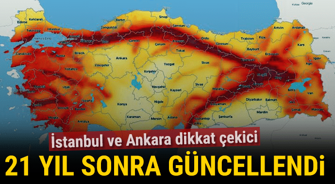 Türkiye'nin Deprem Haritası Yenilendi. Riskli Bölgeler Nereler?